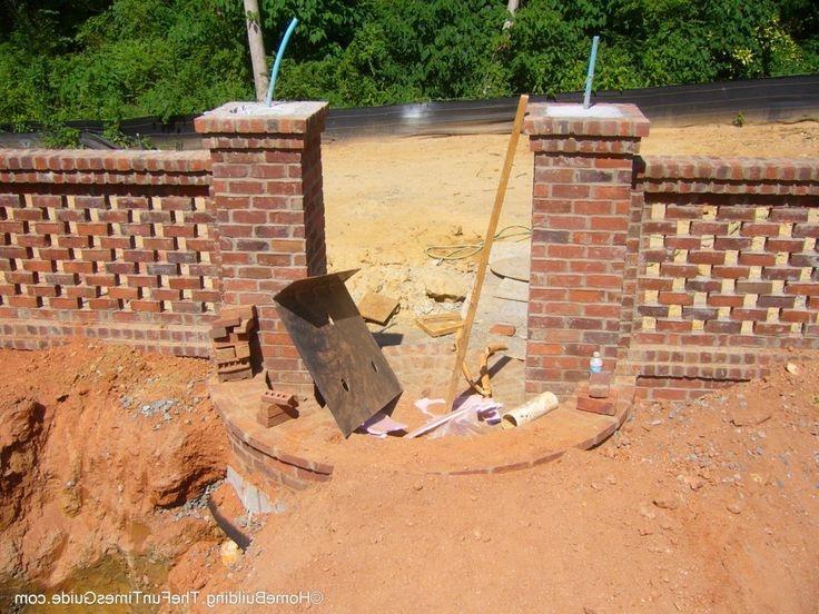 Pierced brick walls photos
