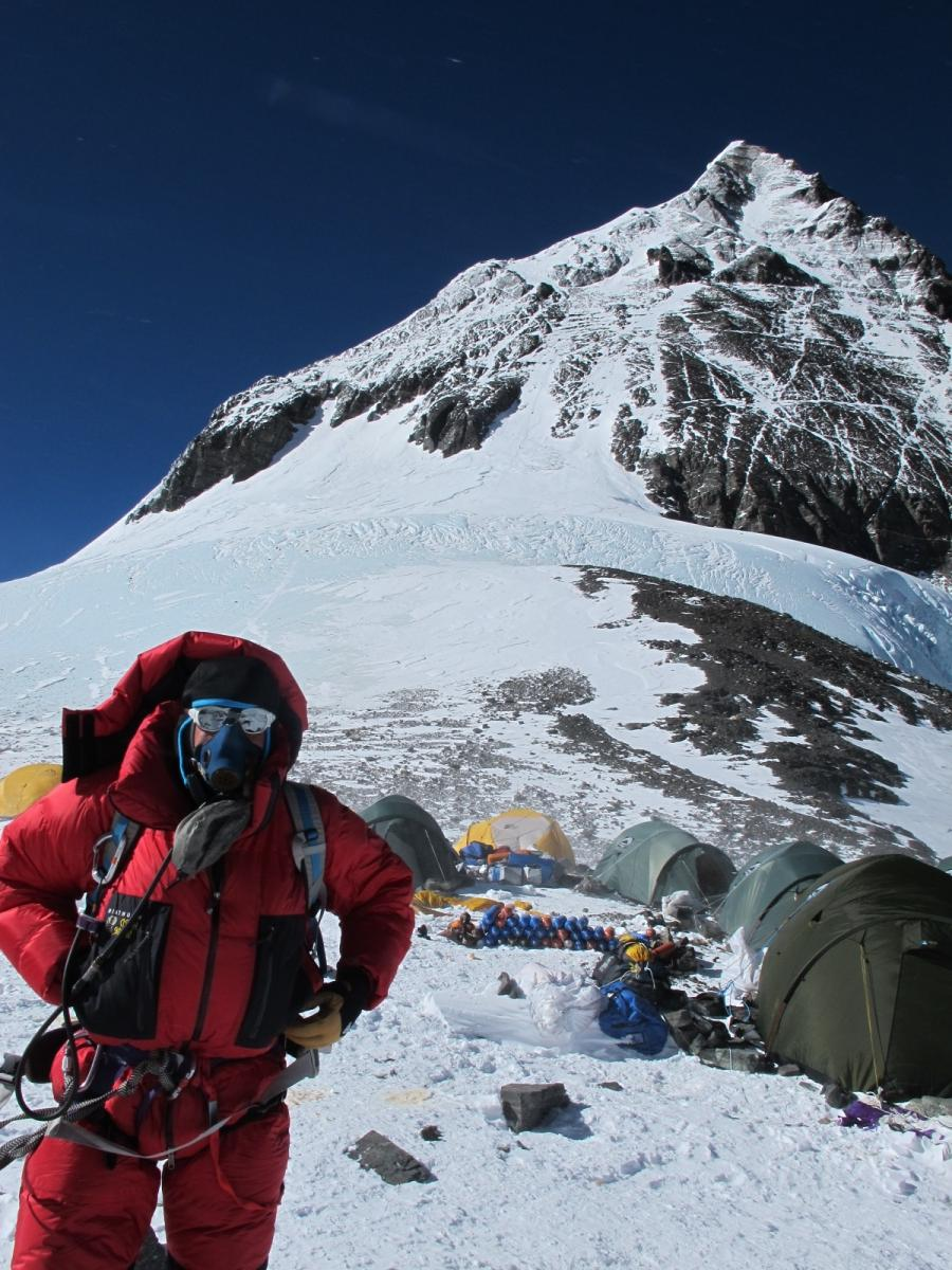 On May 16th, I reached 27,500 feet on Mount Everest, the Balcony....