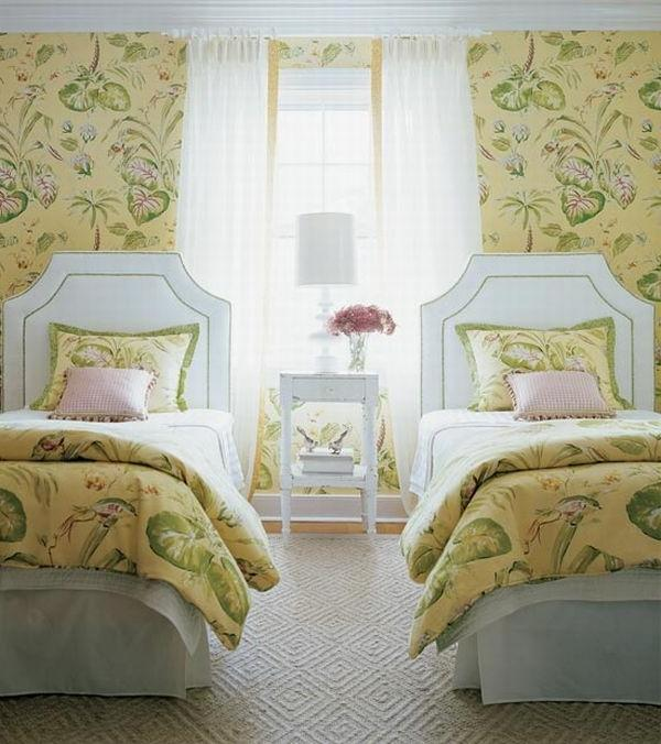 Notice the symmetry in this shared bedroomu decor