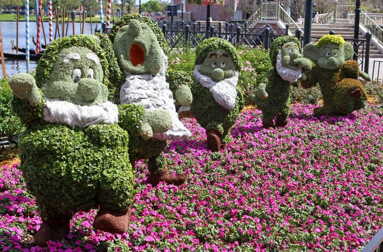 One of the fan-favorite topiaries on display for the 2012 Epcot...