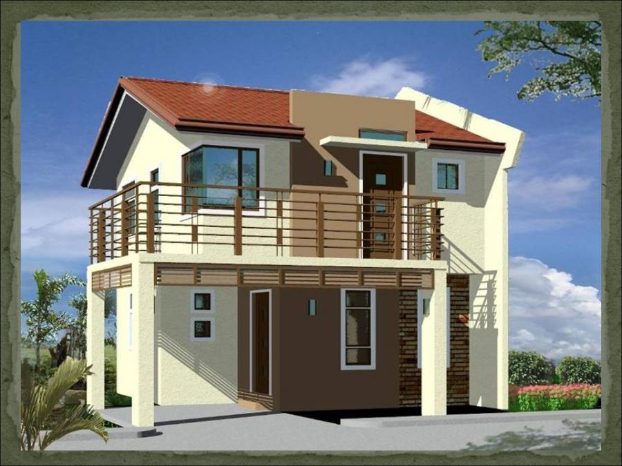 simple house design with terrace 2 storey in the