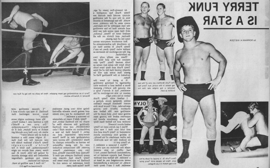 Vintage Wrestling Articles: Terry Funk In the Shadows