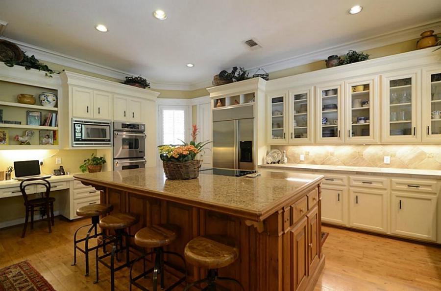 Built kitchen desks photos for Interior design 77379