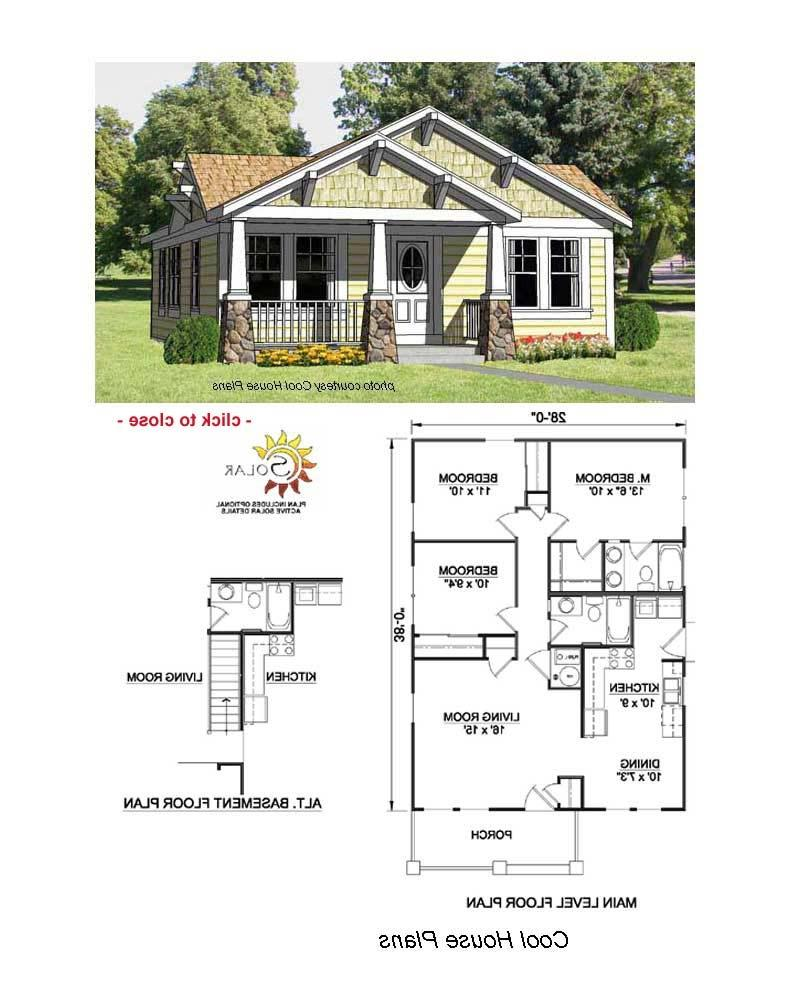 Craftsman bungalow house plans with photos for Craftsman house floor plans
