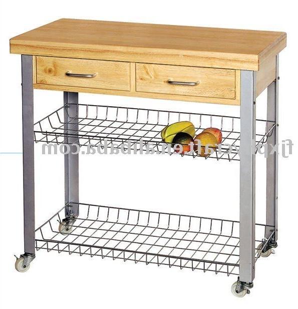 Eddingtons kitchen trolley the lambourn 3 drawer stainlee steel top - Kitchen Trolley Photos