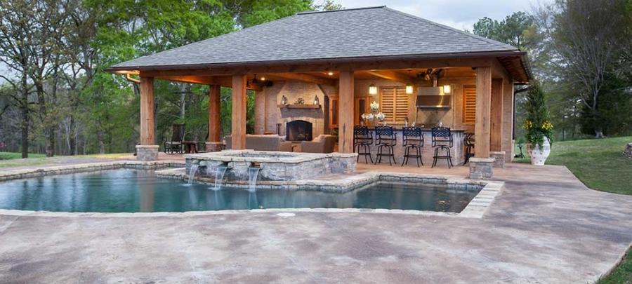 Photos of pool houses for Home designs jackson ms