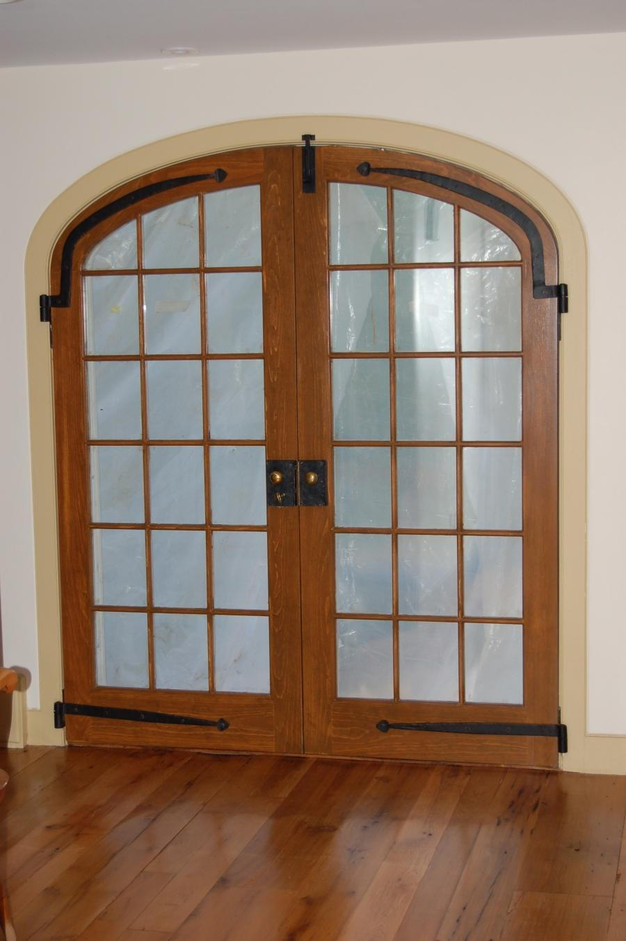 custom built wood french doors interior exterior arch top source