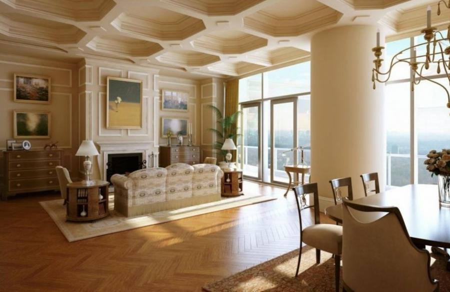 Interior Creative Ceiling Style And Laminate Wood Flooring Plus...