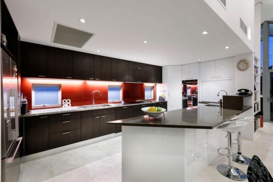 decorating white red and black glossy touch of minimalist large...