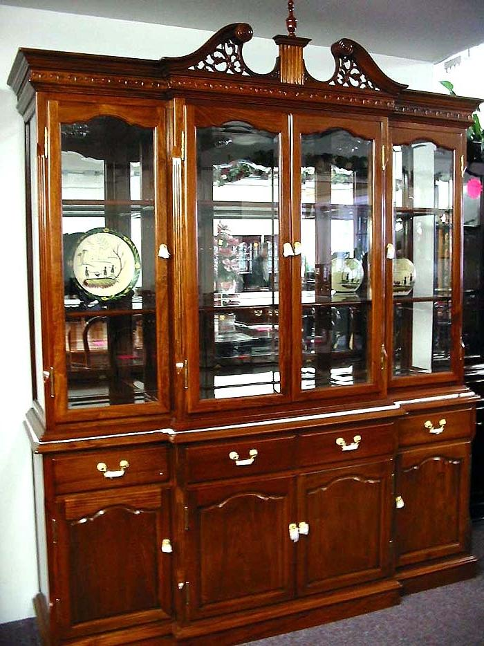 Rosewood English Style China Cabinet