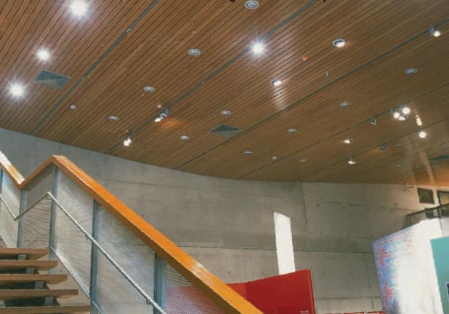 Acoustic suspended ceiling tile / in wood SOUNDTUBE Hunter...