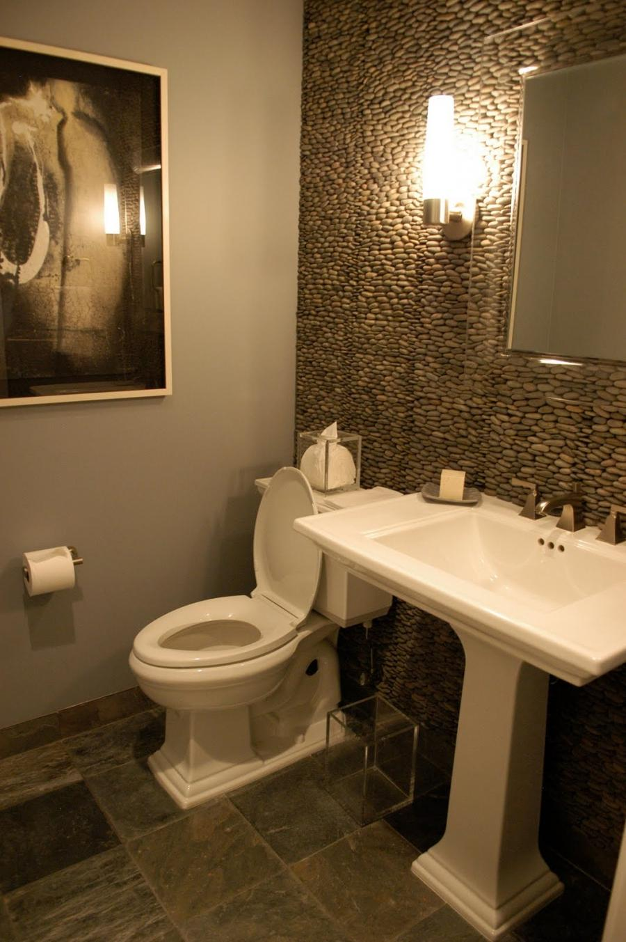 Photos of beautiful powder rooms for Toilet room decor