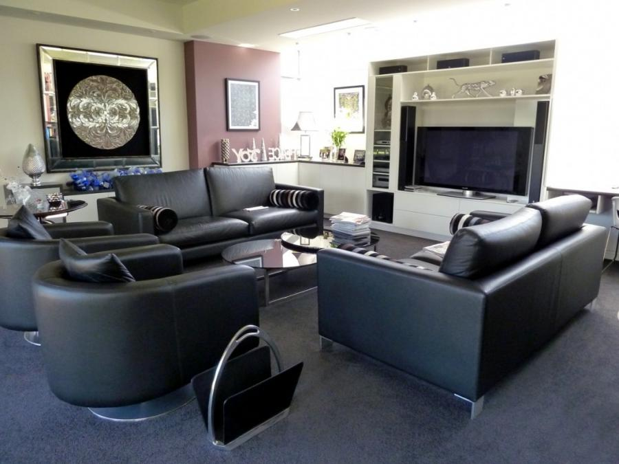 Modern Contemporary Leather Lounge/Sofa/Settee Suite