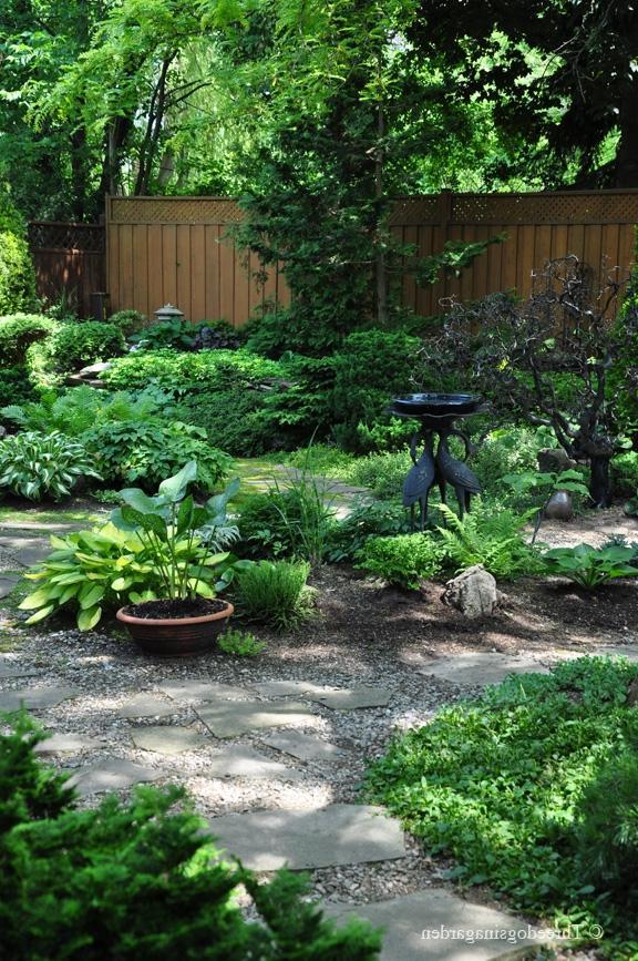 Shade garden photo gallery for Partial shade garden designs