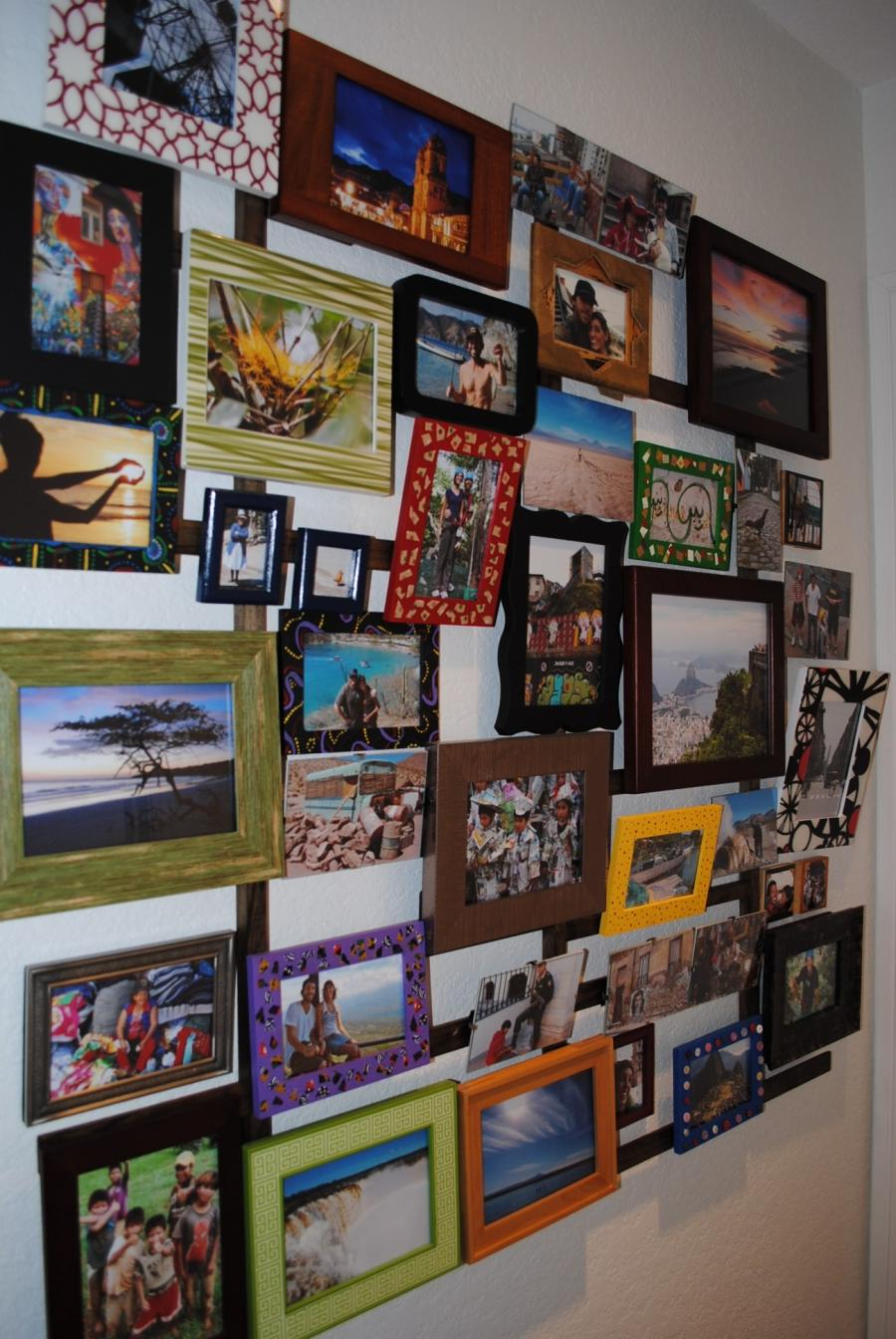 Our hallway photo collage