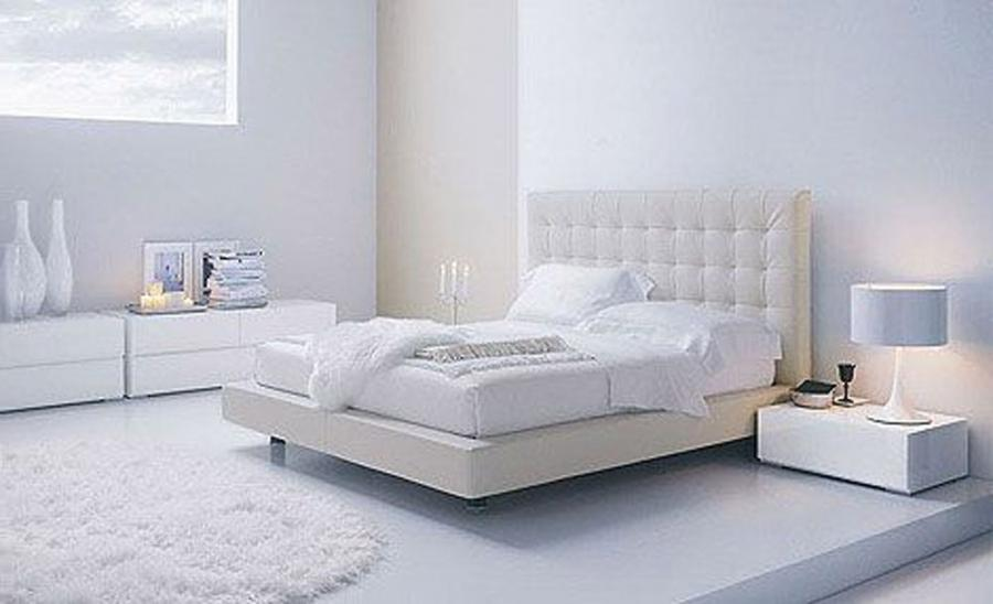 Creative Decoration For Elegant Modest White Bedroom Design...