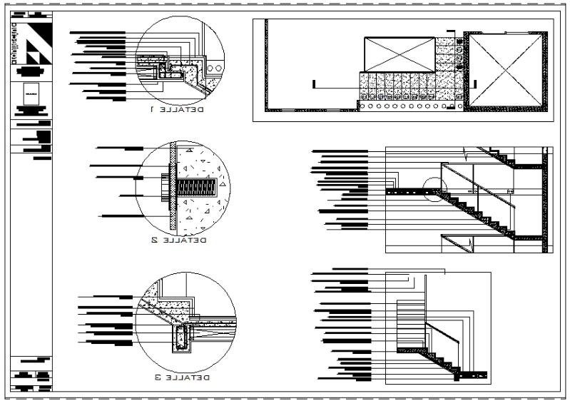Stairs (dwg - Autocad drawing) - Construction Details