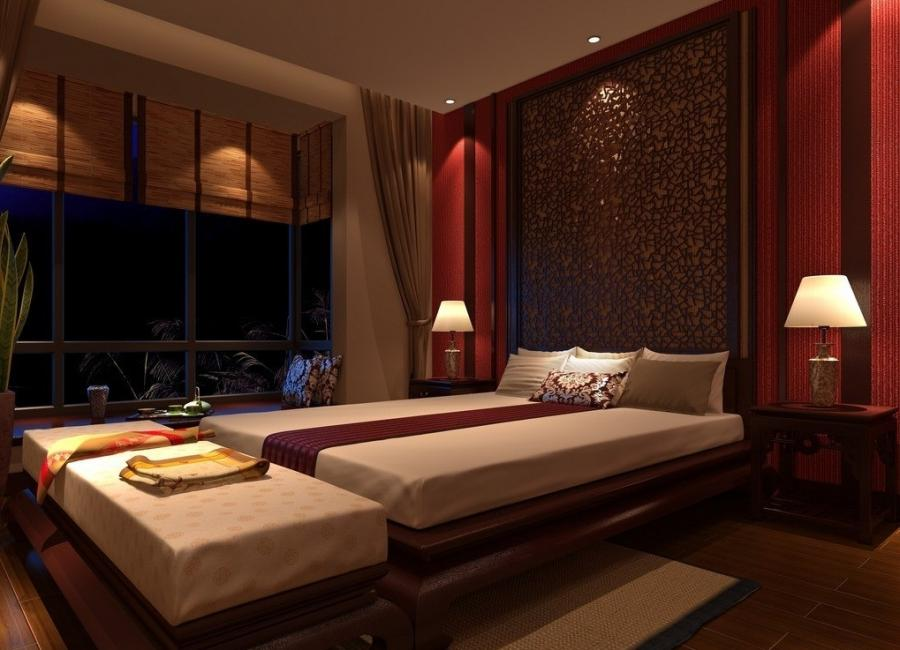 Bedroom, Glamorous Asian Bedroom Interiors Design Ideas Also Wood...
