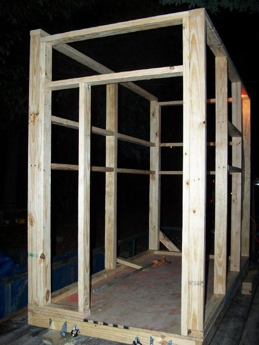 Building deer blinds photos for Build your own deer stand