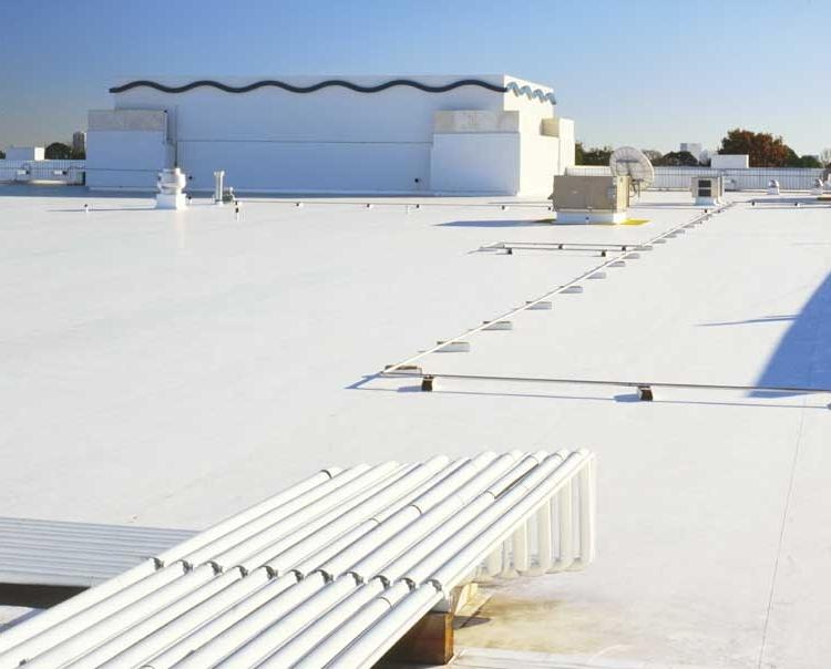 White roof or cool roof technology is a coating system applied to...