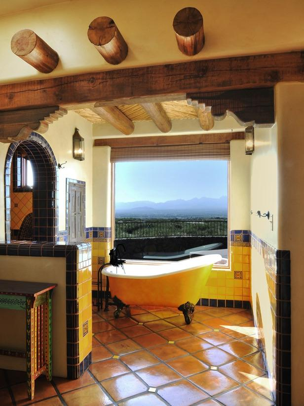 Small Home Interior Design Ideas: Mexican Style Bathroom Photos