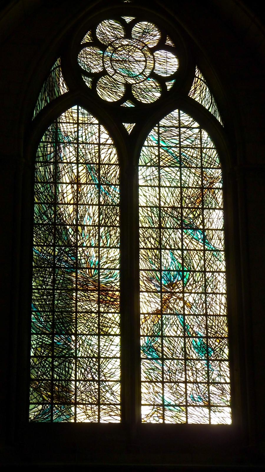 Contemporary stained glass windows photos for Contemporary stained glass