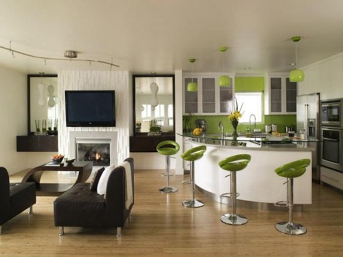 Photos for home decoration for Ouverture cuisine sur salon