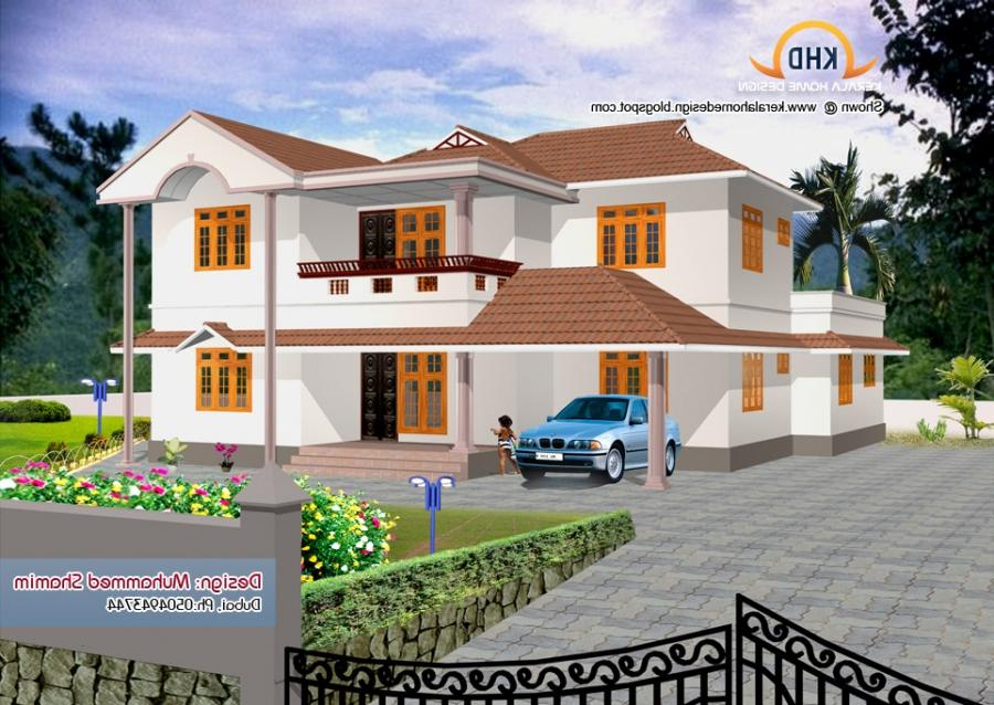 beautiful home elevation designs in 3d kerala house design source