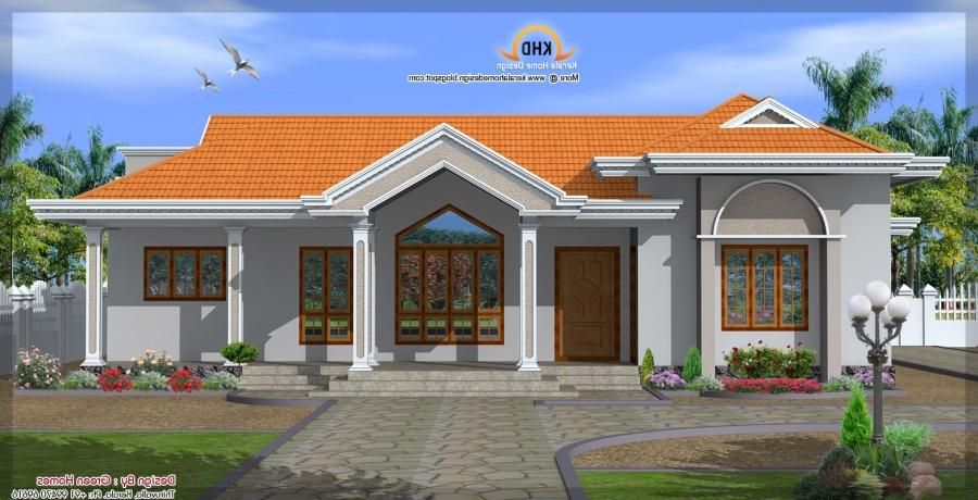 198 square meter (2130 Sq. Ft) Single Floor House Elevation -...