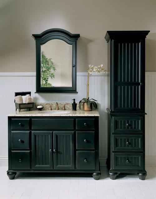 Black bathroom vanity photos Fairmont designs bathroom vanity cottage
