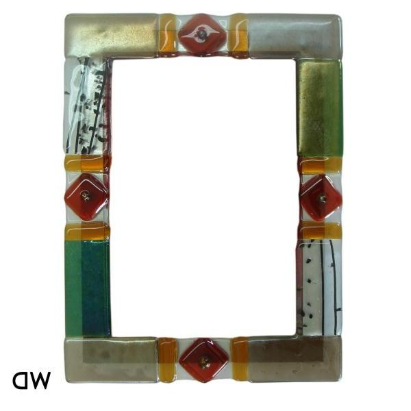fused glass photo frames