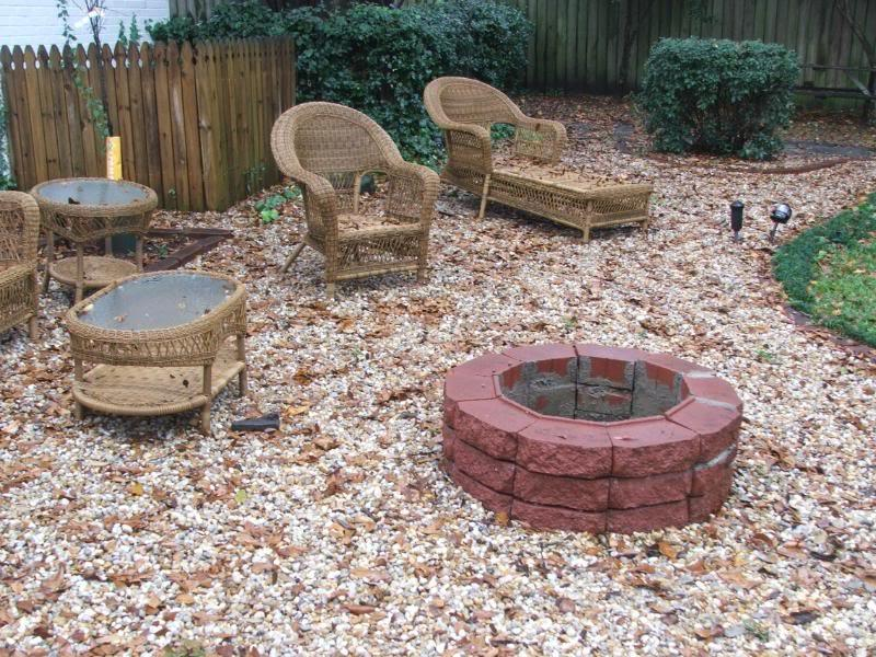 Fire Proof Mortar : Brick firepit outside photo