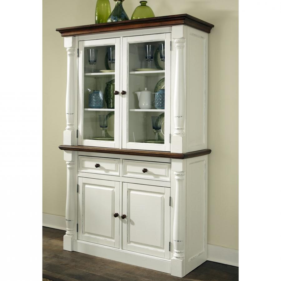 Home Styles Monarch China Cabinet - White  Oak