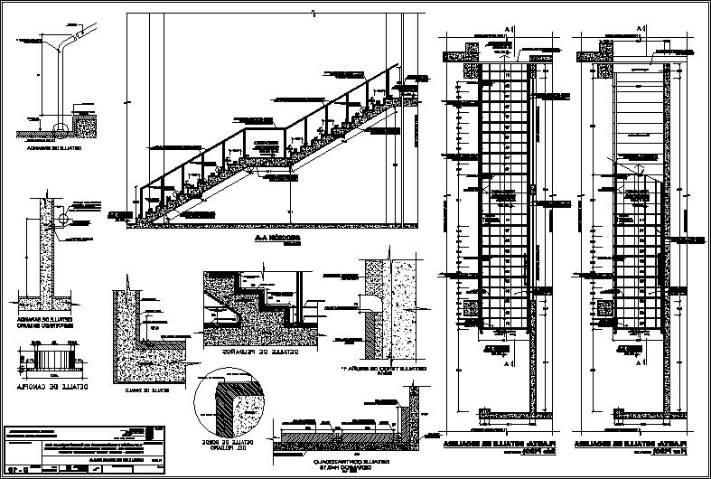 Stair details (dwgAutocad drawing)