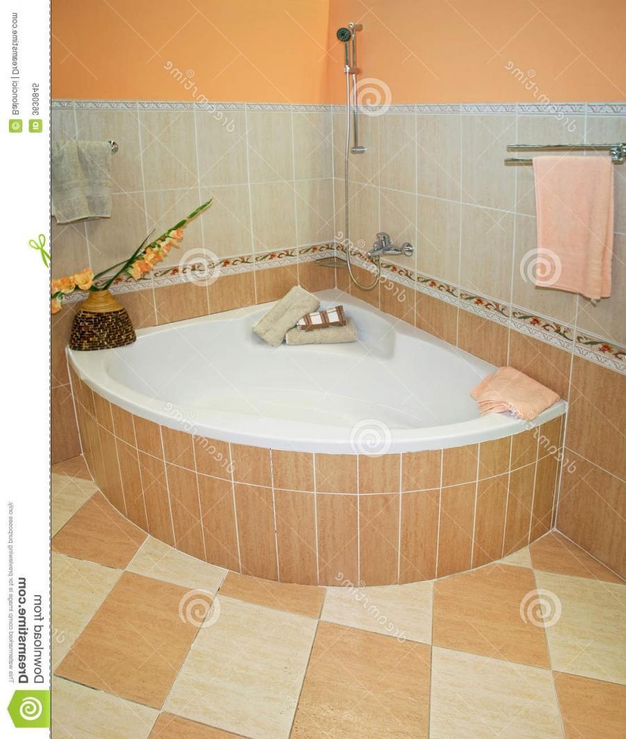 Garden tub decorating photos for Corner garden tub