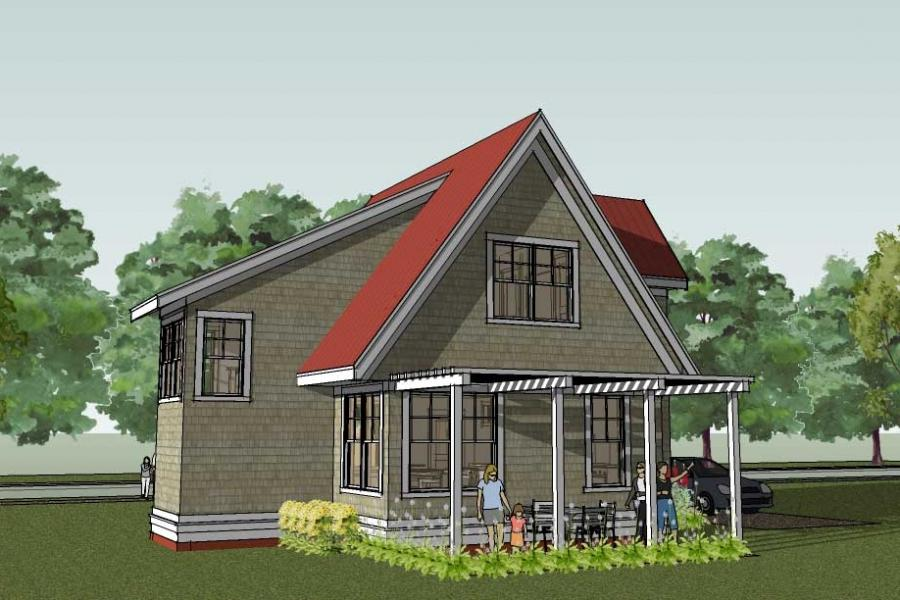 Small craftsman house plans with photos for Small craftsman house plans with garage