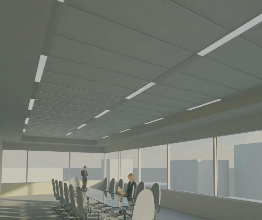 ... Suspended ceiling with hidden structures LOGIX™ USG