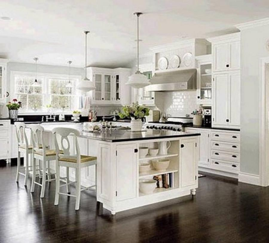 kitchen ideas with white cabinets and white appliances : modern...