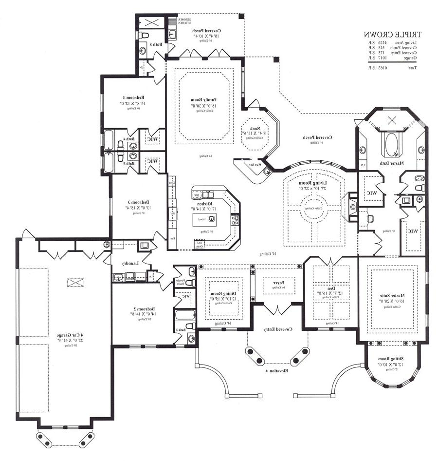 Triple wide floor plans photos for Wide house floor plans