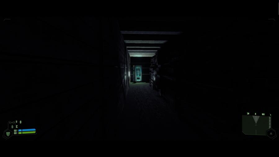 You can see in the video scattered corridors with a single light...