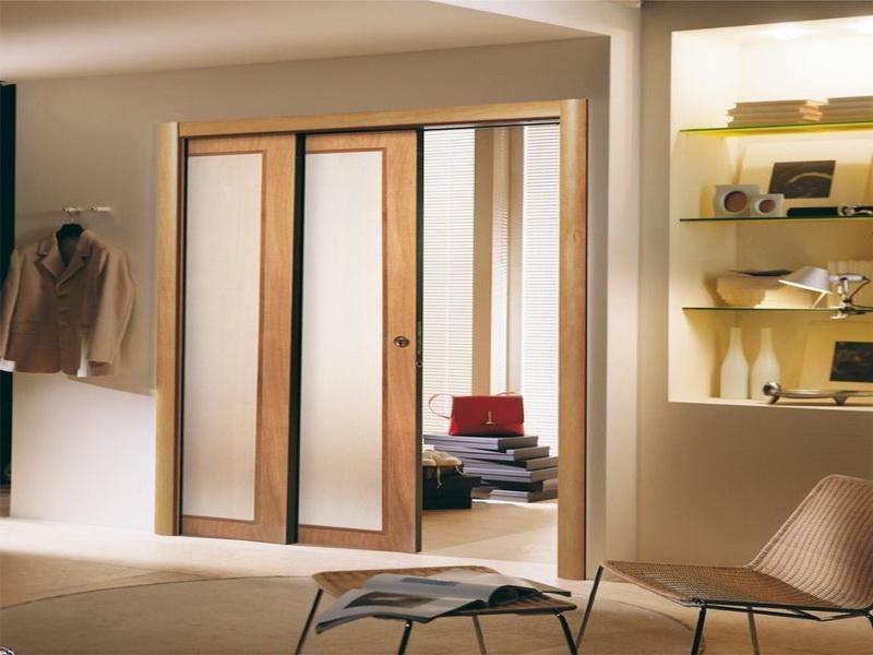 Door photo pocket for Modern glass pocket doors