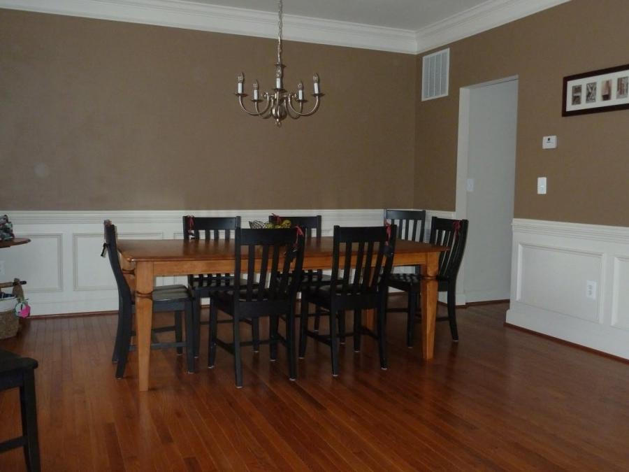 Brown dining room walls