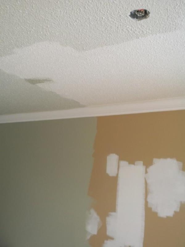 Painting a Stipple or Popcorn Ceiling