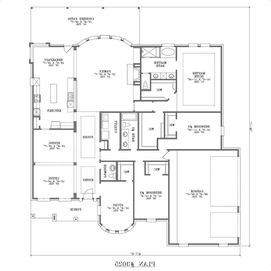 ... One-story House Plan. Floor 1