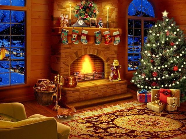 Snow Photos Fireplace