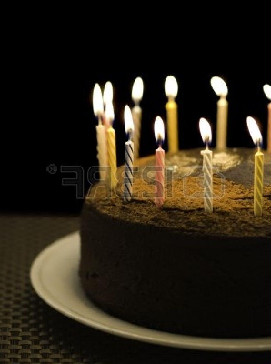 Happy Birthday Cake With Burning Candles Photos
