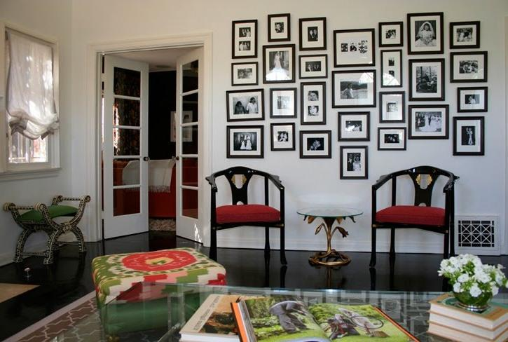 Living room photo collage - Wall collage ideas living room ...