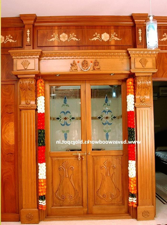 Bavas Wood Works Pooja Room Door Frame And Door Designs: Door Designs Photos Kerala