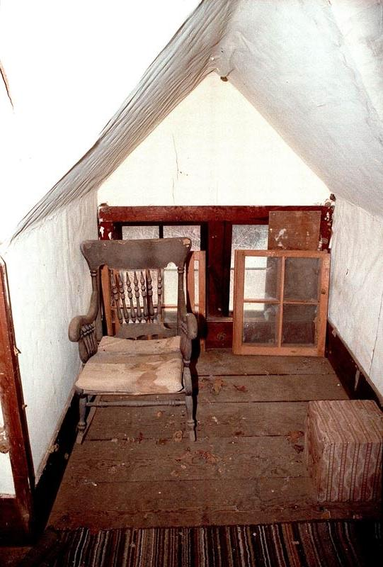 photograph, attic, rocking chair