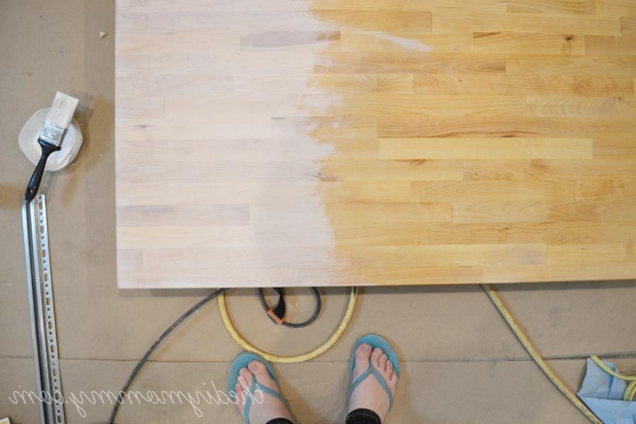 Plywood Floors White Wash Diy Photos